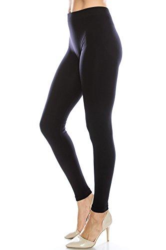 NylonSpandex Grund Sexy Yoga Enge Knit Leggings für Frauen und Junioren Schwarz S (Body Knit Jersey)