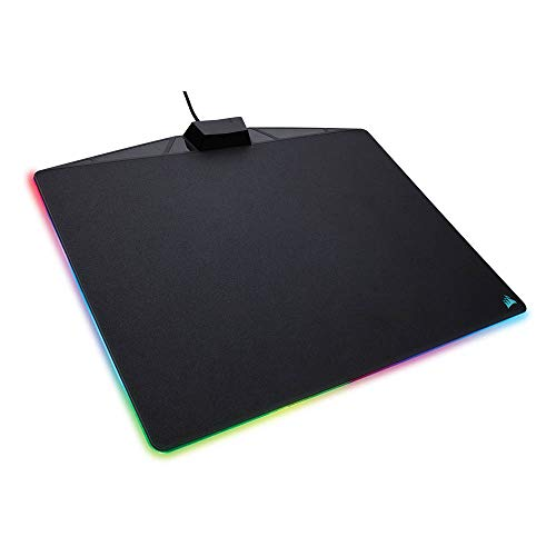 Corsair MM800 RGB Polaris Tapis de Souris Gaming (Moyen, 15 Zones RGB, Surface Dure) Noir