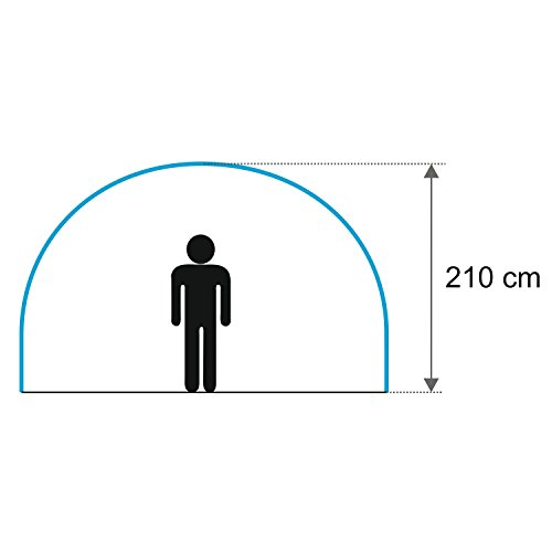 Zoom IMG-3 campfeuer tenda a tunnel grigio