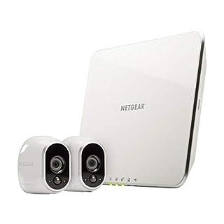 Arlo HD Smart Home 2 HD-Überwachungskameras und Sicherheitssystem (100% kabellos, Indoor/Outdoor, WLAN, Bewegungsmelder, Nachtsicht) weiß, VMS3230