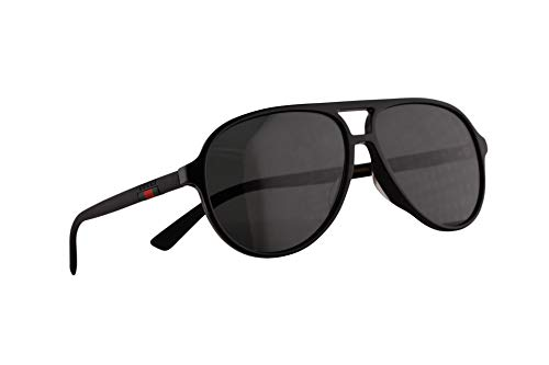 Gucci GG0423SA Sonnenbrille Schwarz Mit Grauen Gläsern 60mm 001 GG0423/SA 0423/SA GG 0423SA