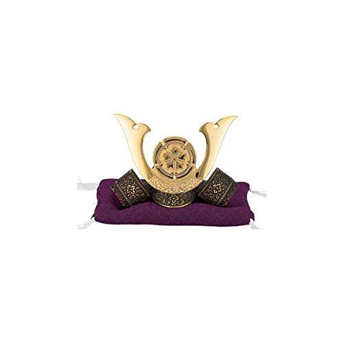 Japanese Samurai Kabuto helmet - Oda Nobunaga - with cushion, box - Japan import [Standard ship by EMS with Tracking number & Insurance]