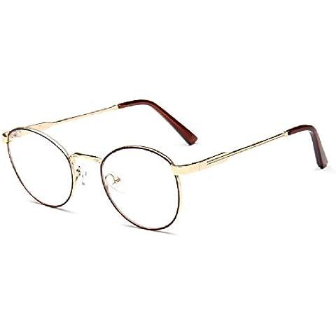 Campus Embryform espejo literario vidrios del marco finas gafas de marco retro cepillado estructura met¨¢lica 9738