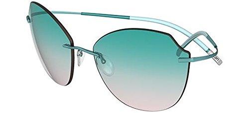 Sonnenbrillen Silhouette TMA ICON 8158 AQUA GREEN/AQUA GREEN SHADED Damenbrillen