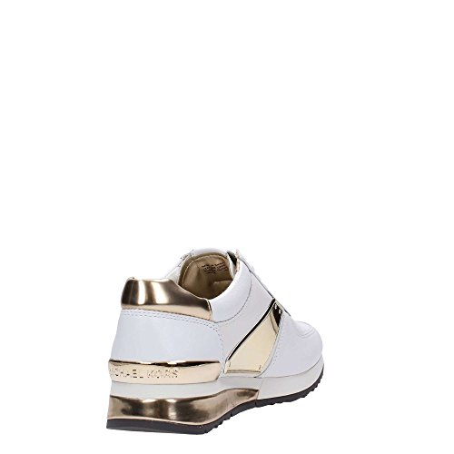 Sneaker trainer Michael Kors Allie Plate in pelle bianca e oro White / Gold