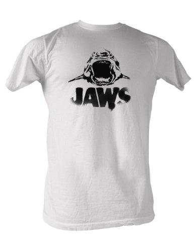 Jaws - Black Logo T-Shirt in Weiß White