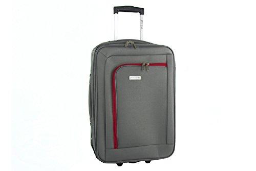 Maleta semirrígida PIERRE CARDIN gris mini equipaje de mano ryanair VS101