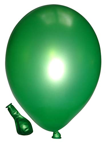 Belbal 50 Luftballons metallic limonen grün Premiumqualität Ø ca. 27cm B85 (Standardgröße)