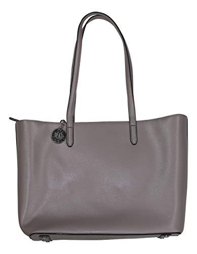DKNY große Bryant warm grau Ledertasche Grey Leather