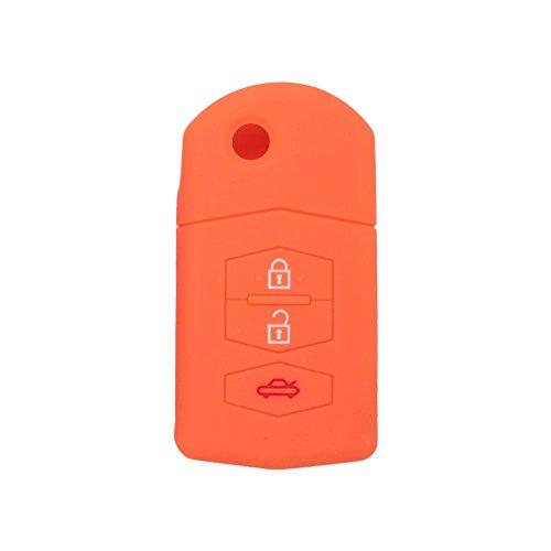 fassport Silikon Cover Haut Jacke Fit für MAZDA 3Taste Flip Fernbedienung, Schlüssel Hohl Textur cv9530