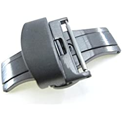 JRRS7777 24mm Stainless Steel Butterfly Deployment Watch Strap Titanium Buckle Wristband Brushed Satin