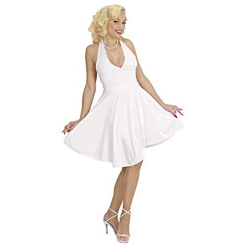 WIDMANN Showgirl costume dress,Marilyn, white. Size: XL (disfraz)