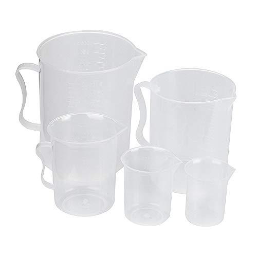 Ogquaton Juego Vasos medidores plástico 5 Piezas