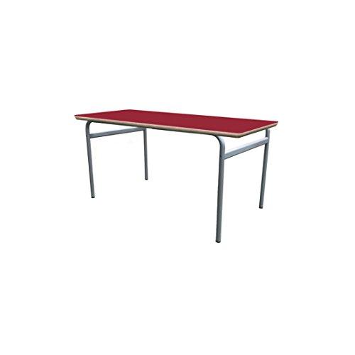 Mobeduc enfant extensible rond Structure Table, bois, rouge cerise, taille 1, 180 x 80 x 46 cm