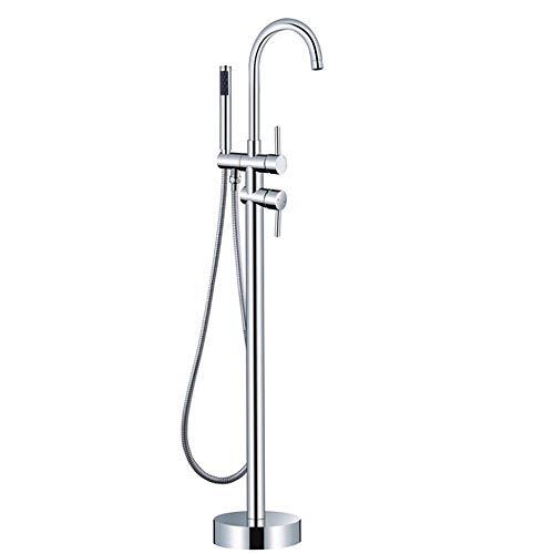 GYFY Eingebaute Box Boden Badewanne Wasserhahn vertikal Chaise Dusche Kupfer heiß und kalter Wasserhahn