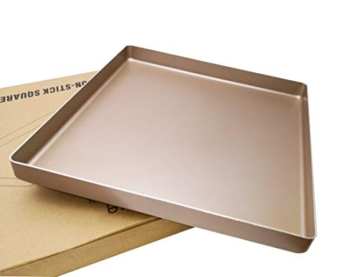 excelity Aluminiumguss 27,9cm quadratisch Cookie Blatt Toaster Ofen Tablett Pfannen Non-stick Meat Loaf Pan