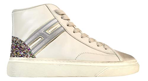 Hogan Rebel Vintage Scarpe Donna H342 Hi-Top H Flock HXW3420J240HSB0LM7 Burro (38 EU - 5 UK)