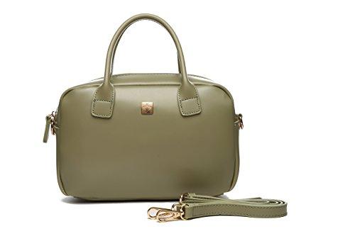 Bolso bandolera mujer verde oliva, bolso bowling, bolsos cruzados pequeños mujer. Bolsos MAMBO