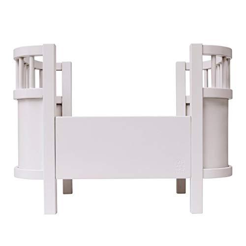 Sebra - Puppenbett - Spielzeugbett - Sperrholz - weiß - Holz-seitengitter