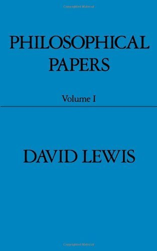 Philosophical Papers: Volume I (Philosophical Papers (Oxford)) by David K. Lewis (1983-06-23)