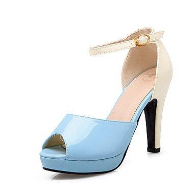 LvYuan Da donna-Sandali-Ufficio e lavoro Formale Casual-Club Shoes-Quadrato-PU (Poliuretano)-Nero Blu Rosa Pink