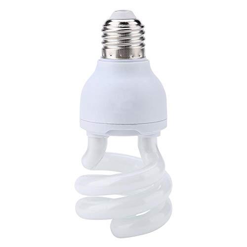 HEEPDD UVB Rettile Light Bulb, Spiral Compact Rettile Sunlight UVB 10.0 Lampada riscaldante per Desert Type Rettile Lucertola Tartaruga Tartaruga 220-240V(13W)
