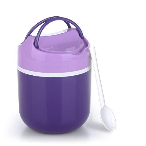 Fstoption Thermo Lunchbox Food Jar Kunststoff Speisebehälter für Essen Thermo Gef äß für Warmhaltebox (Lila)