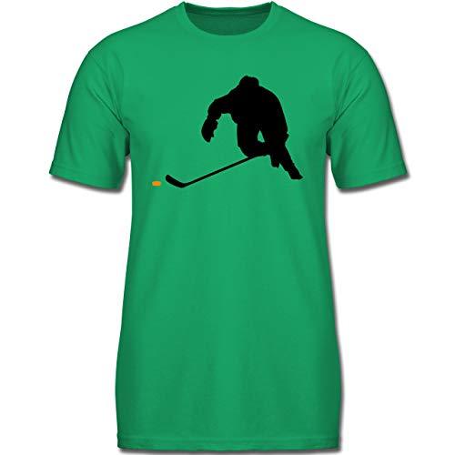 Sport Kind - Eishockey Sprint - 140 (9-11 Jahre) - Grün - F130K - Jungen Kinder T-Shirt