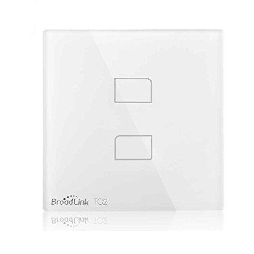 Elenxs Interruptor Broadlink TC2-3 estándar de la UE 1/2/3 Gang, Smart Wall...