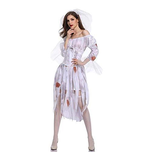 Fashion-Cos1 Prinzessin Cosplay Kostüme Halloween Scary Miss Ghost Braut Kostüme Für Frauen Erwachsene Cosplay Lady Zombie Vampire Dress (Size : M)