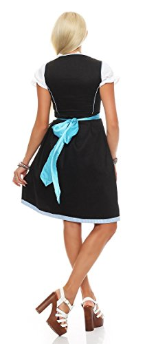 Fashion4Young - Robe - Taille empire - Femme Multicolore vert/marron 38 bleu/noir