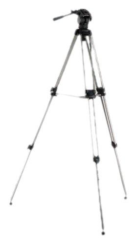 Cullmann ALPHA 9000 Videostativ mit Videokopf (2 Auszüge, Gewicht 3500g, Tragfähigkeit 10 kg, 156cm Höhe, Packmaß 78 cm)