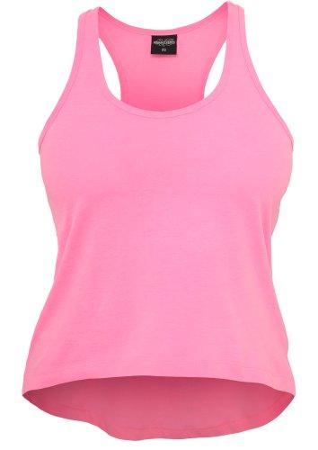 Débardeur Large Fluo Femme Haut Long sans manches 100% Cotton Urban Classics pink fluo