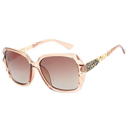 Sonnenbrille für Damen, polarisiert, Retro-Sonnenbrille, Vintage, Übergroße Sonnenbrille, UV400 Fashion Gr. Einheitsgröße, braun