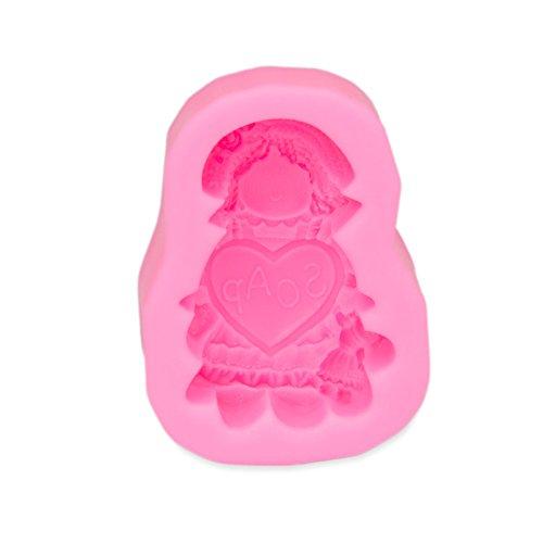 Seifenform mit Puppe und Herz, Herstellung von 3D- Seife, Kerze, Funzel, Bodymelt, Gips-Form, Selbermachen, Hochzeit, Candle, Soap, Docht, Geburtstag, Deko, Feier, niedlich, putzig Farbe: - Puppen Herz Mit