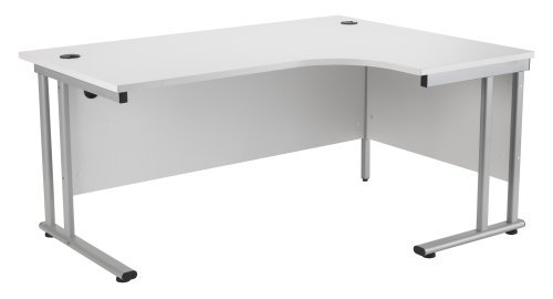 For Sale White Right Hand Crescent Desk 1600mm, Ergonomic Desk in White – Smart Office Furniture Range – from Relax Office Furniture Reviews
