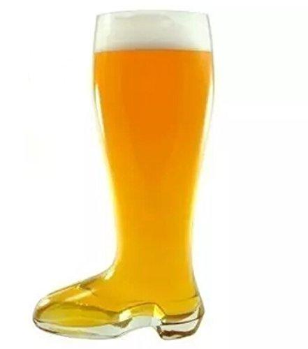 Preisvergleich Produktbild LIKECAR 1,3L Glas Bier Boot Bierstiefel Bierglas Weißbierglas Stiefelform Trinken Kaffee Cappuccino Cocktail Teetassen Camping Tumbler mit Griff
