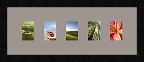 Cadres photos pêle mêle multivues 5 photo(s) 7x9 Passe Partout, Cadre photo mural 52x19 cm Noir, 3 cm de largeur