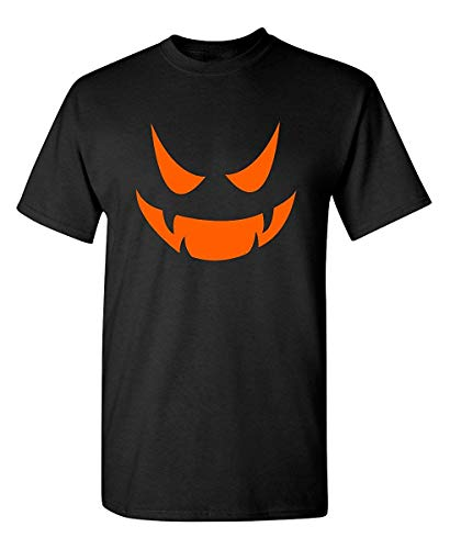 Emoticon Kostüm Smile - Vampir Kürbis Emoticon Smile Face Kostüm Funny Halloween T-Shirt,3XL