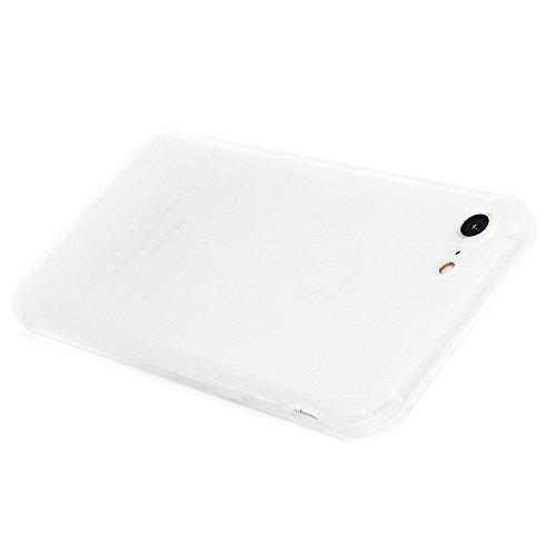 Cover iPhone 7, KASOS Custodia Silicone TPU Morbido Bumper Case Flessibile Sottile Antiurto Antigraffio Antiscivolo Shell Spessore di 1.3mm - Rosa Semitrasparente