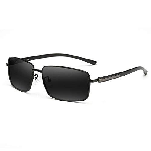 Young shinee Sportbrillen Aviator Wayfarer Sportrunde- New Polarized Hipsters - Men's Driving Mirror Alloy (Farbe : A)