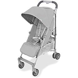 Maclaren Quest arc Silla de paseo - ligero, manillar unido, para recién nacidos hasta los 25kg, Asiento multiposición, suspensión en las 4 ruedas, Plata