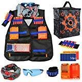 Gilet Tactique Enfant pour pistolet Nerf N-Strike Elite Cadeau,50 Fléchettes...