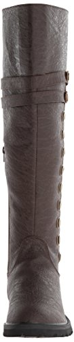Funtasma Gotham-120 Retro Steampunk Stulpen Stiefel Kunstleder Braun S-XL Brown Distressed Pu