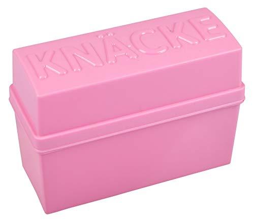 Knäckebrotbox Brotbox Knäckebrot Box Brotdose Aufbewahrungsbox Vorratsdose, Farbe:rosa