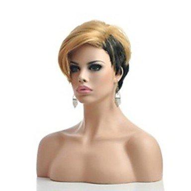 OOFAY JF-Kunsthaar-Mischungsfarbe heißen kurzen geraden Teil Perücken Damen , blonde