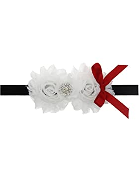 Zhhlaixing Kids Baby Girls Toddler White Silk Flowers Headband Hairband Flower Hair Accessories for Christmas/...