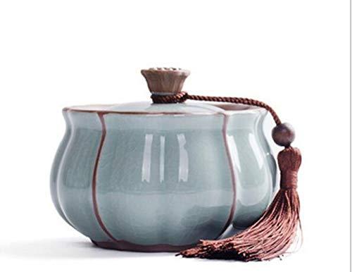 Tierurnen-Dosen aus handgefertigten Keramikgläsern, die mit feuchtigkeitsbeständigen kleinen und mittleren Hundurnen verschlossen sind, können die Asche aller Größen von Katzen und Hunden aufnehmen