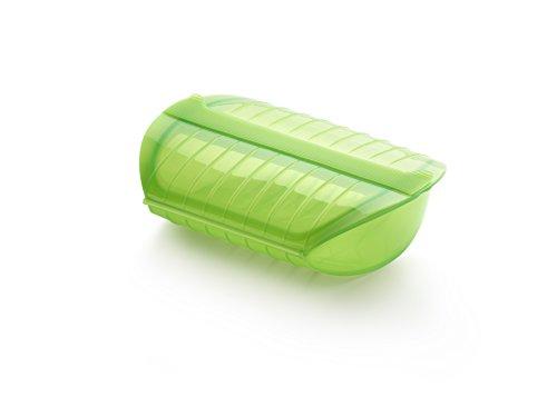 Lékué - Dampfbox Profi grün m. Locheinsatz weiss
