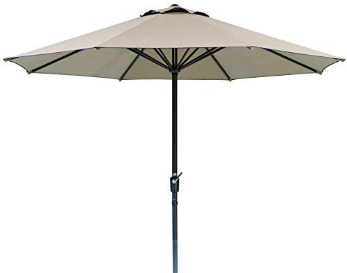 Schneider Sonnenschirm Korsika, natur, 320 cm rund, Gestell Aluminium/Stahl, Bespannung Polyacryl, 8.1 kg